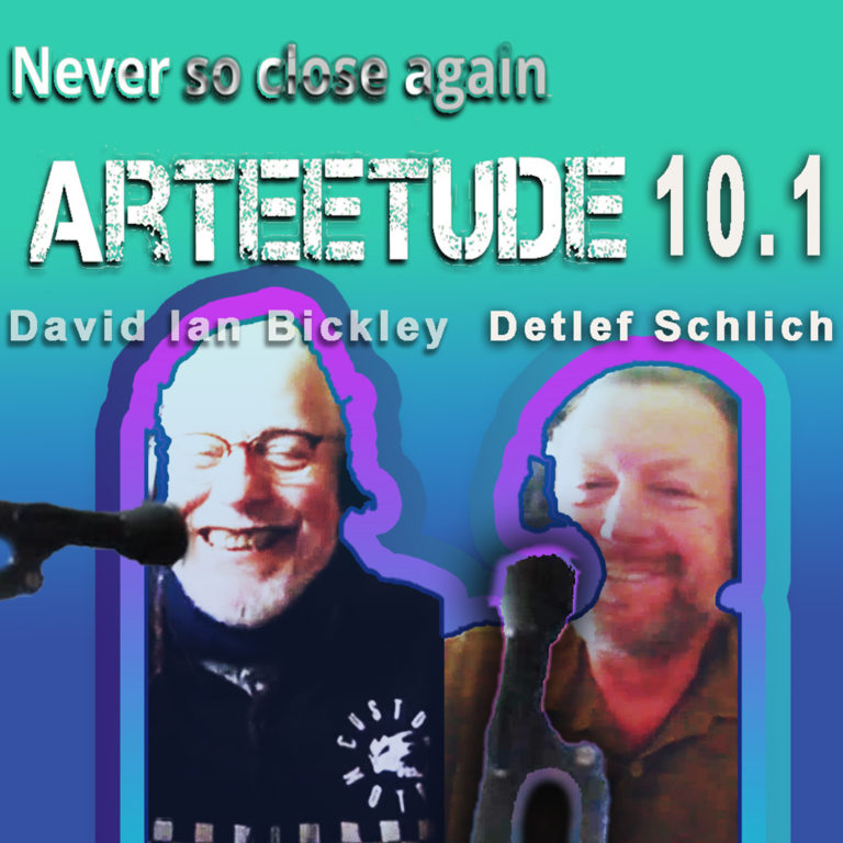 Episode 10.1  Media artist David Ian Bickley and Detlef Schlich in an ArTEEtude talk about Bickley`s youth in the 80s in England.